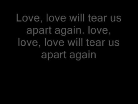 Joy Division Love Will Tear Us Apart Lyrics Youtube With