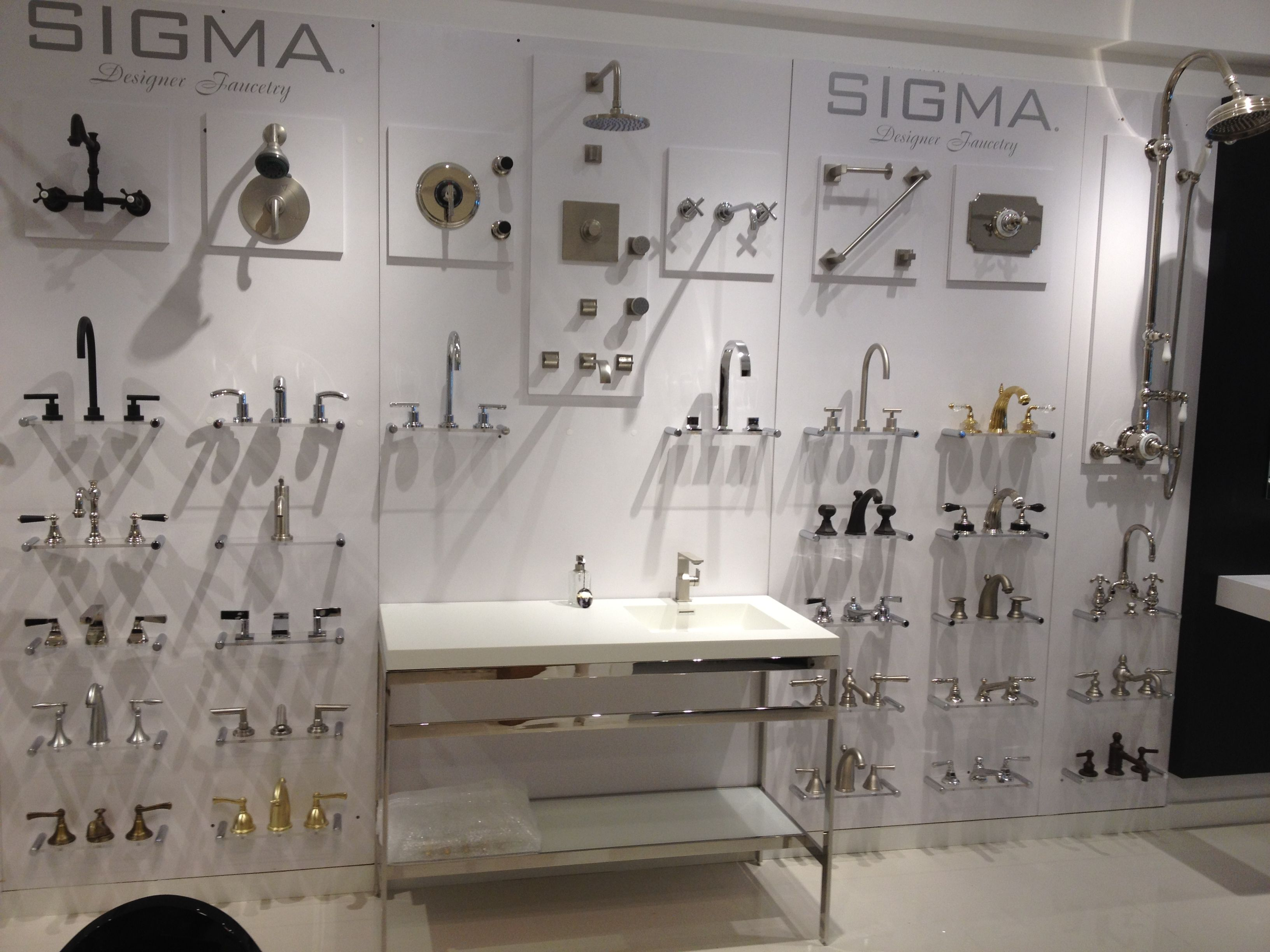 Sigma display wetstyle vanity at our new showroom in the - Bathroom vanities nebraska furniture mart ...