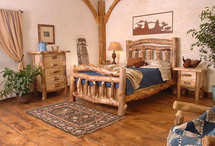Rustic Bedroom Furniture | Rustic Furniture - Rustic Aspen Log ...