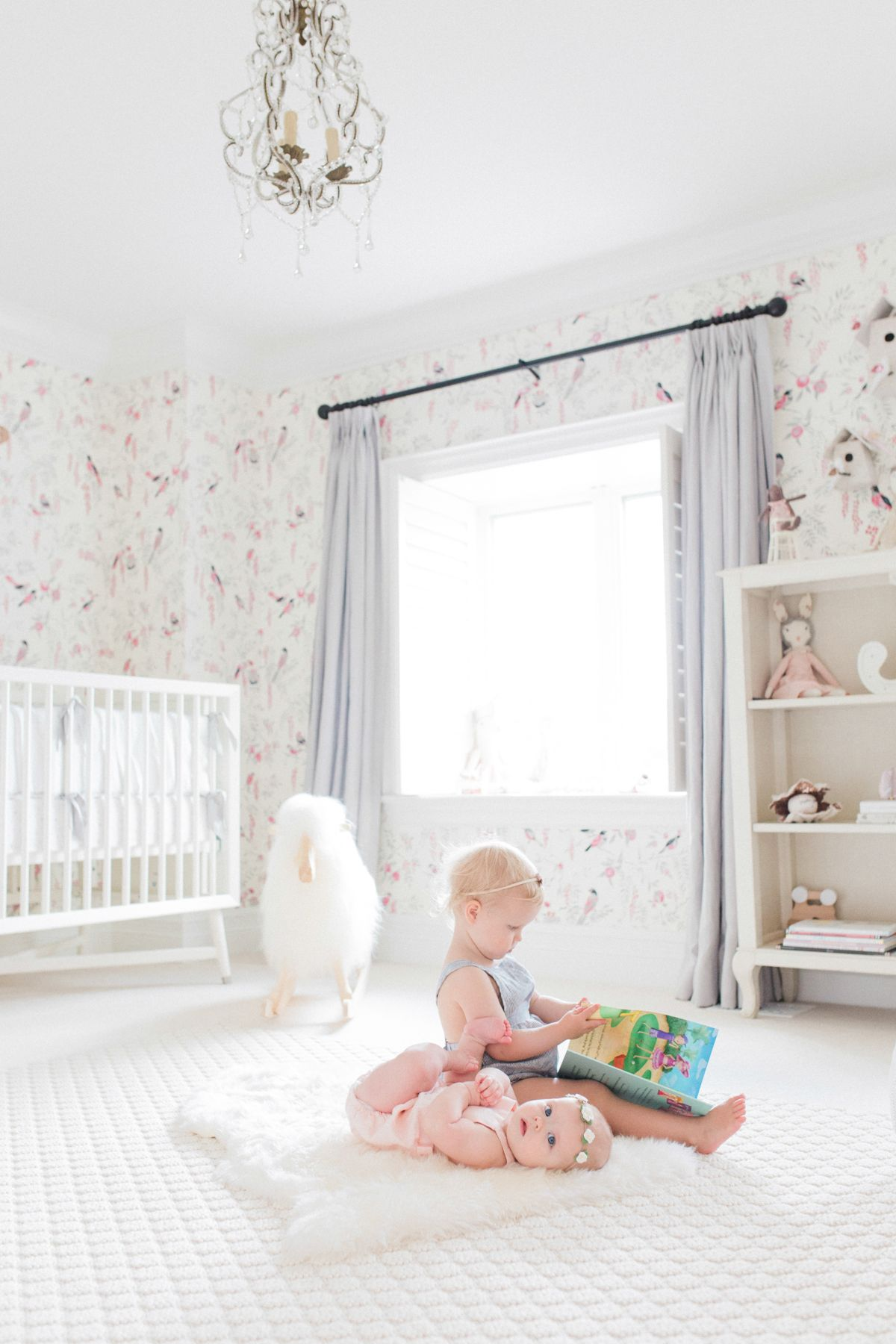 Juniper's Vintagey Bird Wallpaper Nursery Nursery