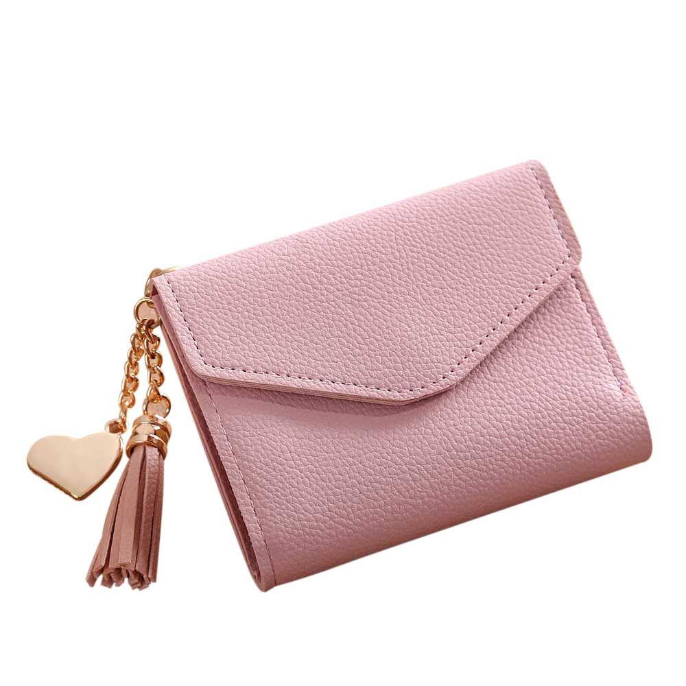 Women Simple Short Wallet Tassel Coin Purse Card Holders Handbag Pk Clutch 499 Wallets For Women Colorful Wallet Wallet Bag