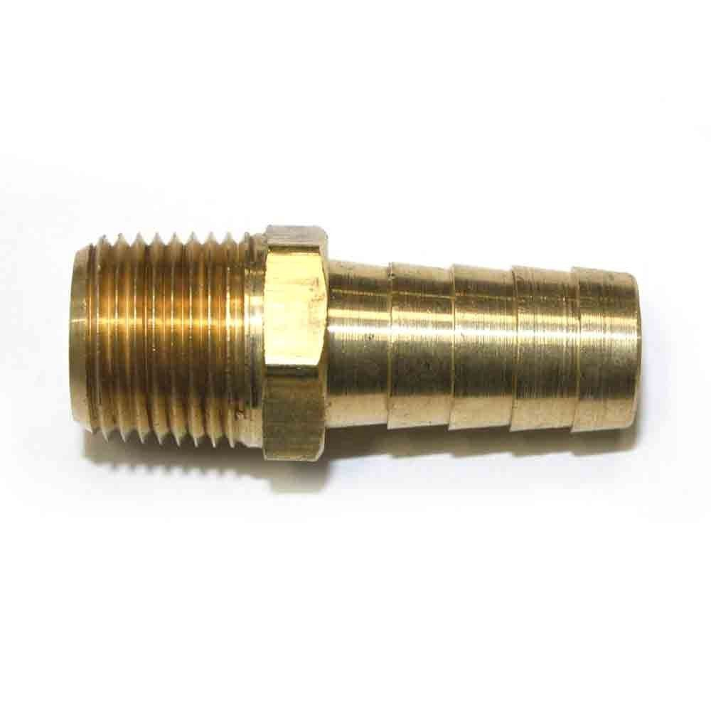 Interstate Pneumatics Fm68 3 8 Inch Mpt X 1 2 Inch Male Barb Adapter Click Image For More Details Brass Metal Roof Brass Fittings