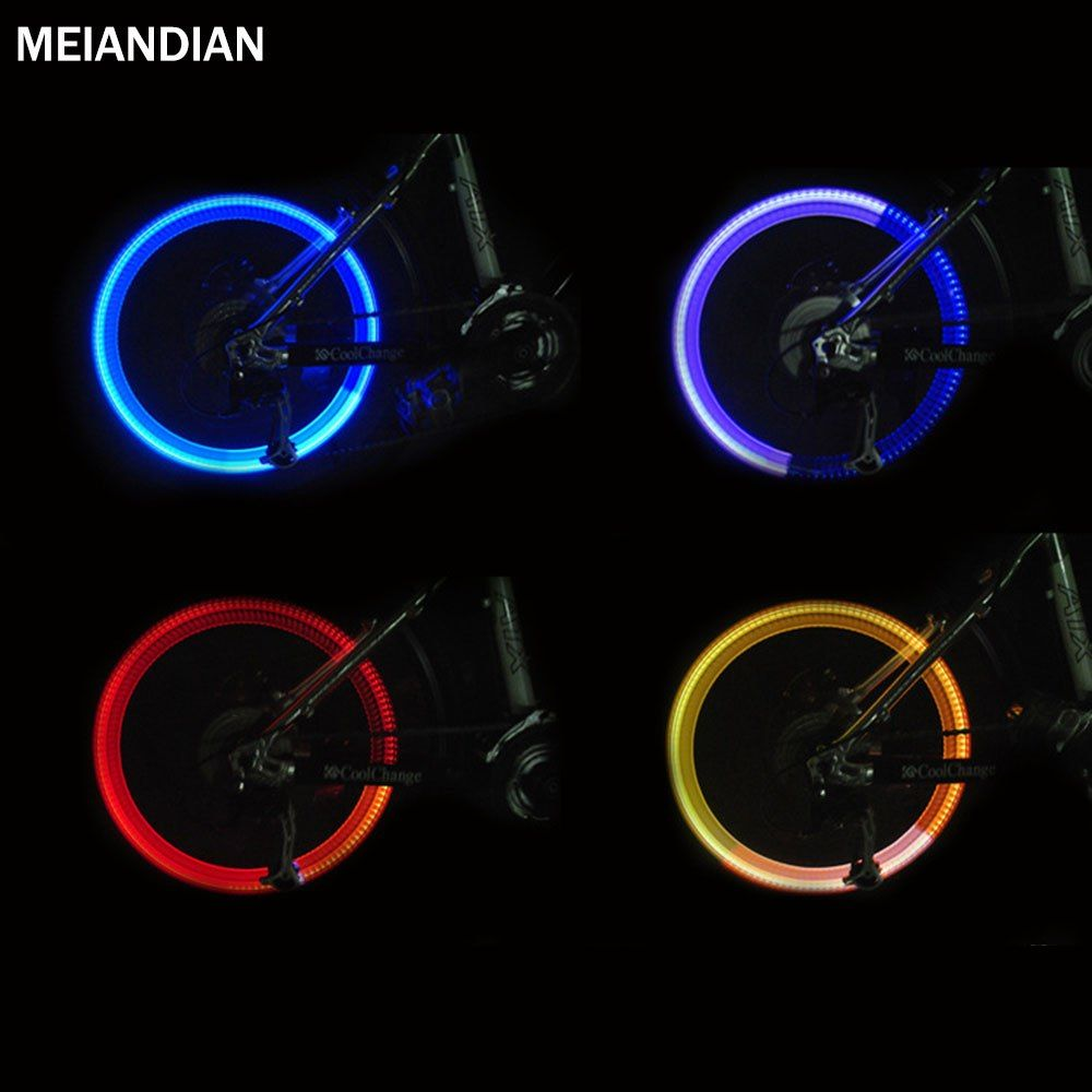 LED Wheel Valve Caps Blue Lights Flash Tyre Cap For Bike Bicycle Motor-bicycle