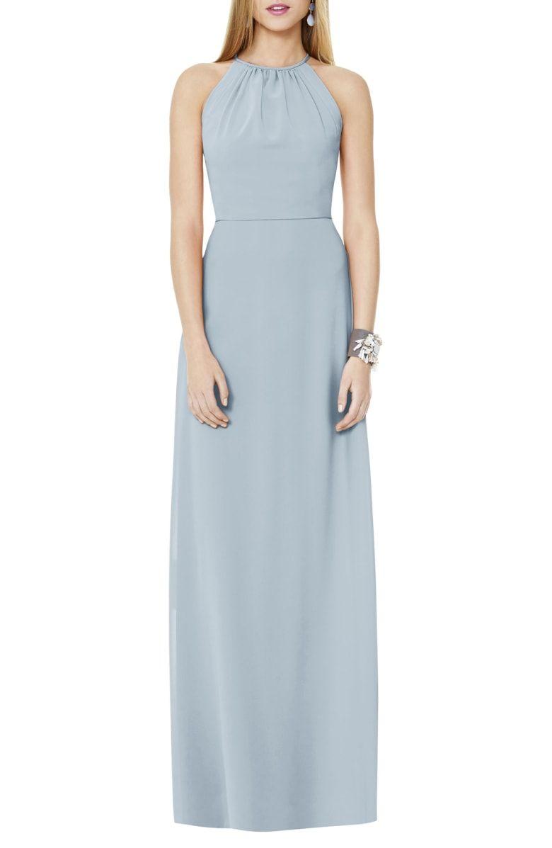 01ee5f23ba9c Matte Chiffon Gown, Main, color, Mist | Wedding in 2019 | Chiffon ...