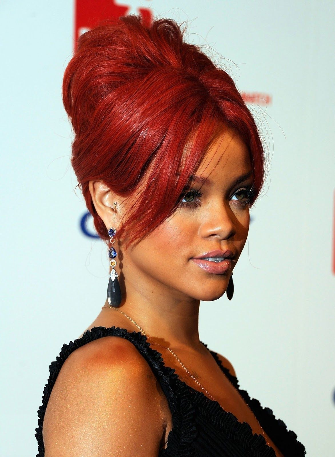 Fiery Red Hair Color For Dark Skin Women Celebrity Hair