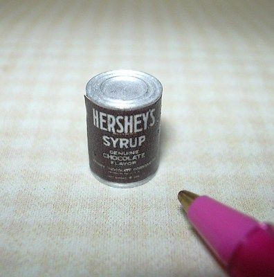 Miniature Brand Chocolate Syrup Can for DOLLHOUSE: Miniatures 1/12 Scale in Dolls & Bears, Dollhouse Miniatures, Artist Offerings | eBay