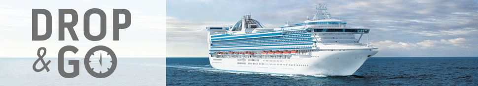 Drop Go Logo Front View Of A Princess Cruises Cruise Ship At - Last minute cruise deal