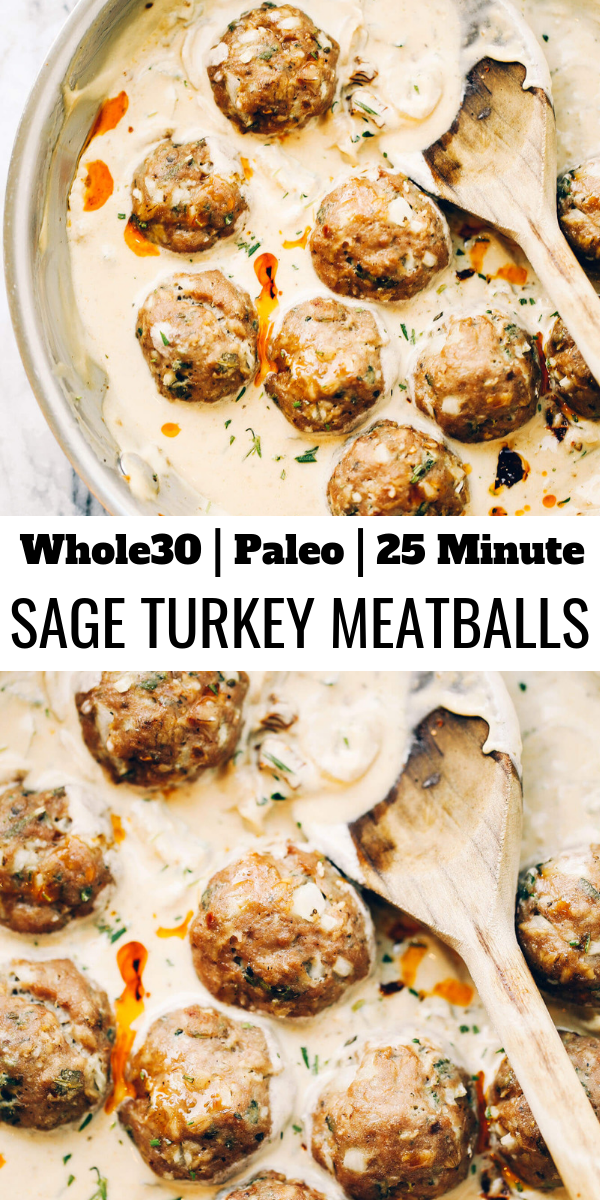 Turkey Sausage Meatballs In Sage Cream Sauce images