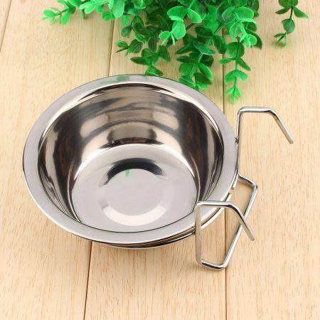 Stainless Steel Pet Feeder Bowl Bird Cat Dog Food Water Bowl