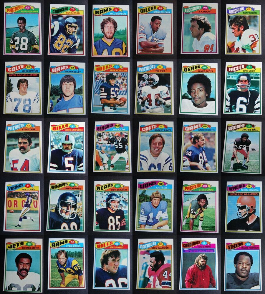 1977 topps football cards complete your set you u pick