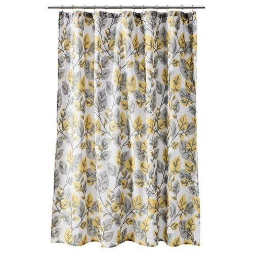 Room Essentials® Shower Curtain Yellow Gray