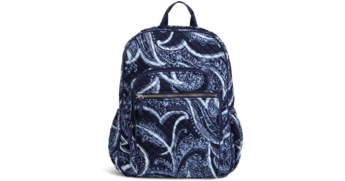 Lyst - Vera Bradley Iconic Campus Backpack in Blue Vera Bradley 7d2786ff04c97