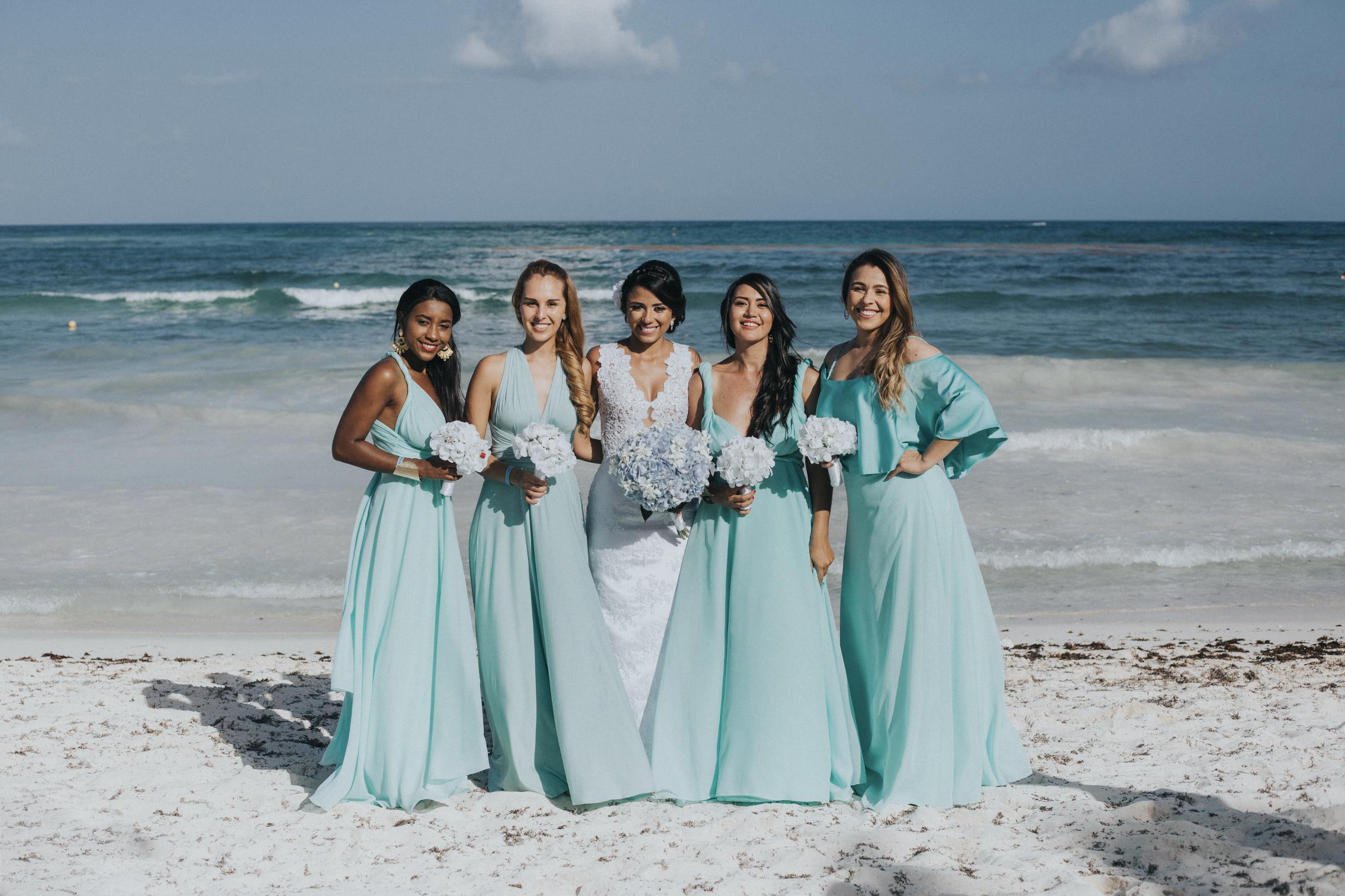 Vestidos sobre medida, vestido de novia, damas de honor, bridesmaids ...
