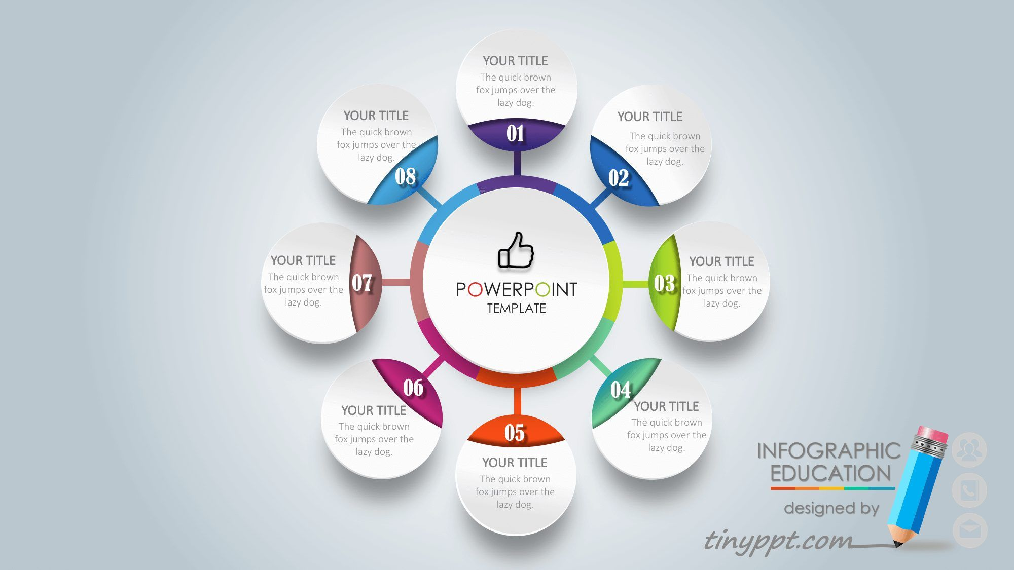Professional Powerpoint Templates With Animation Design With 8 Circle Shaped Stages Each Circle Has A Powerpoint Infographic Professional Powerpoint Templates