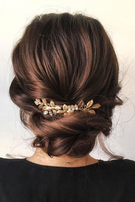 Photo of 41 ideas for hairstyles bun low chignons