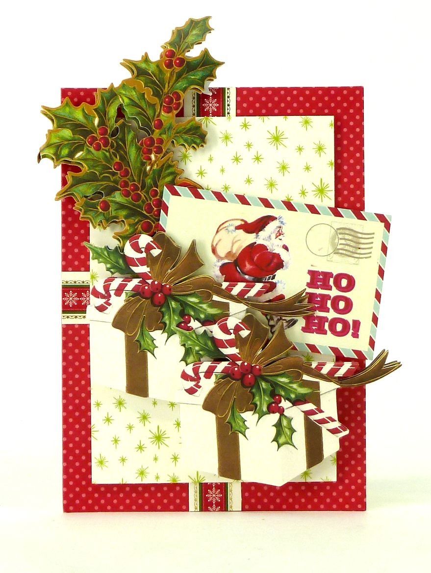 Handmade 3-dimensional Christmas card from the Anna Griffin Holiday Trimmings Card M… | Anna ...