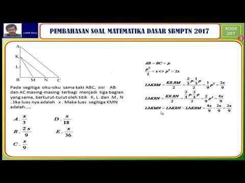 Tips Lolos Sbmptn 2018 Youtube Matematika Dasar Matematika