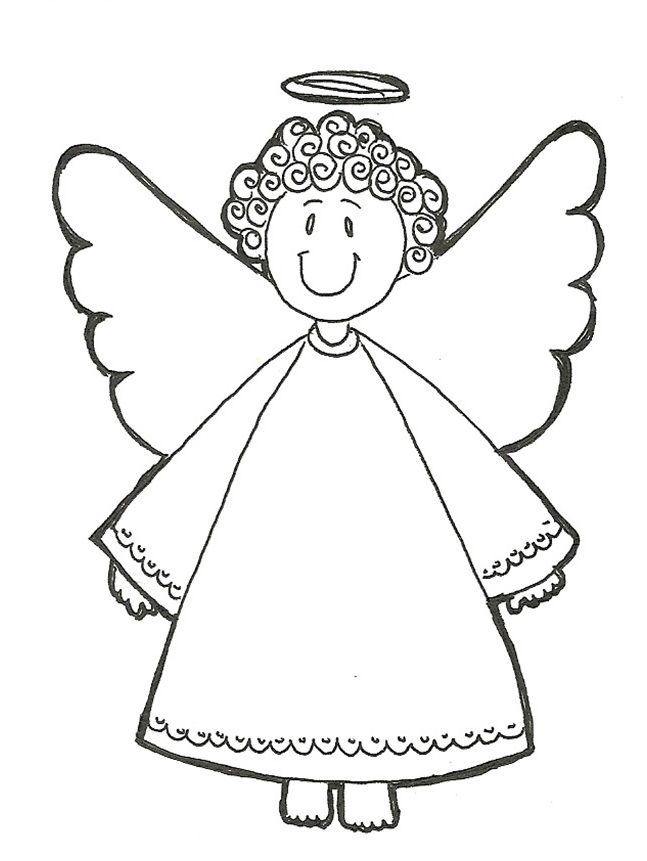 smile of christmas angel | angel coloring pages, printable