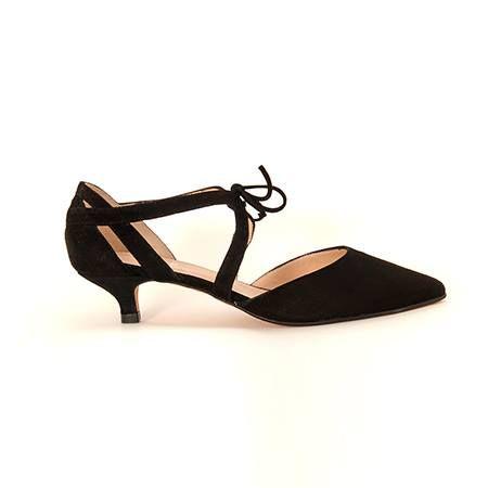 Coleccion En Color Merceditas Herrezuelo Ante Beda Zapato Con Negro IwqZgxd
