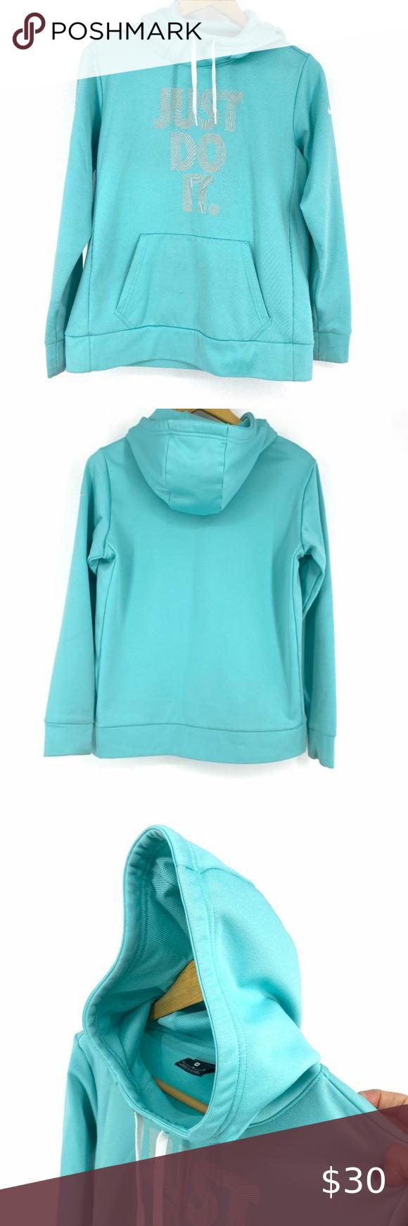Nike Teal Just Do It Sweatshirt Hoodie Medium Sweatshirts Hoodie Sweatshirts Long Sleeve Hoodie [ 1740 x 580 Pixel ]