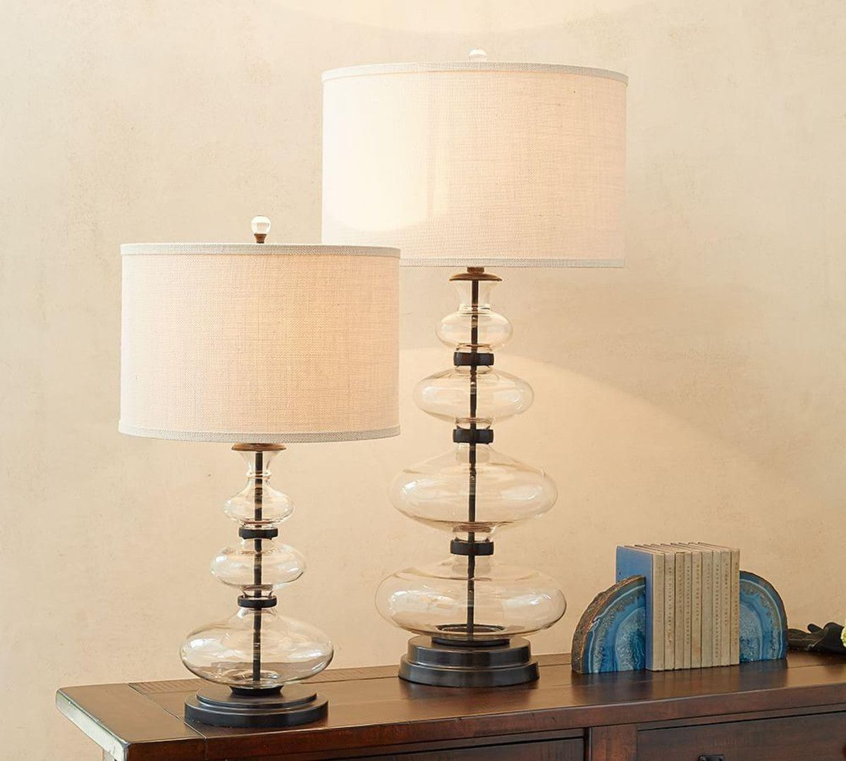 Estelle stacked glass table lamp base in tl pinterest