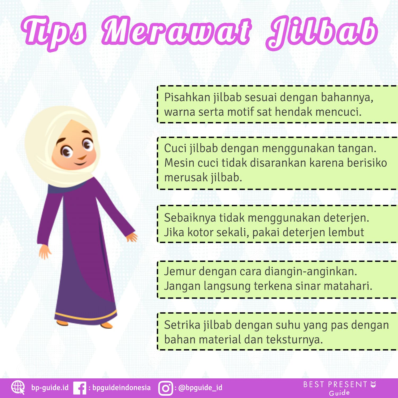 Tips Merawat Jilbab Tips Warna Wajah