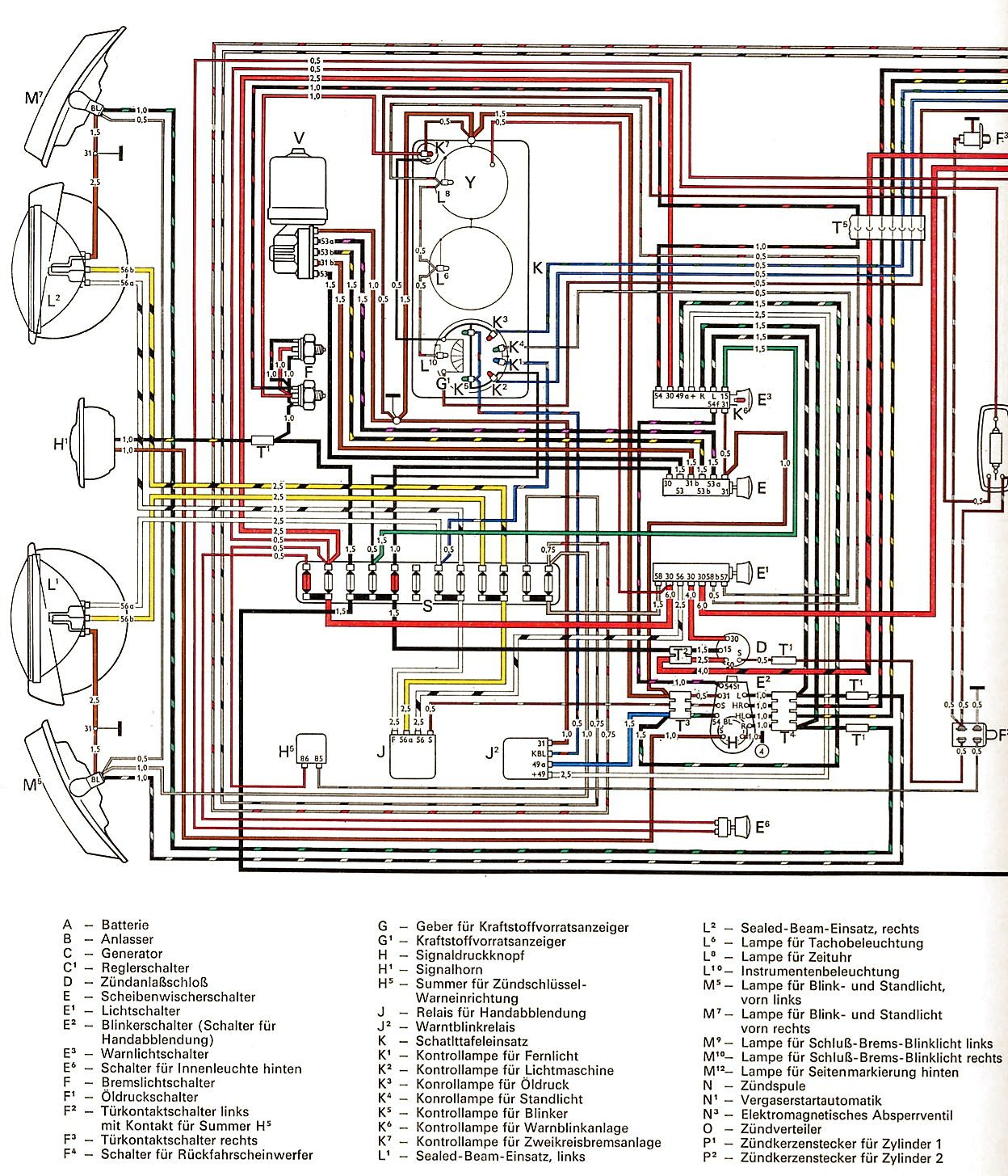 1969 Vw Wiring Diagram Diagrams Schematics With Beetle | Blueprints, Main  street, MainePinterest