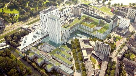 Erasmus MC connects healthcare to the city of Rotterdam. More about the architecture on our blog. Photo credit: EGM Architecten #architecture #healthcare