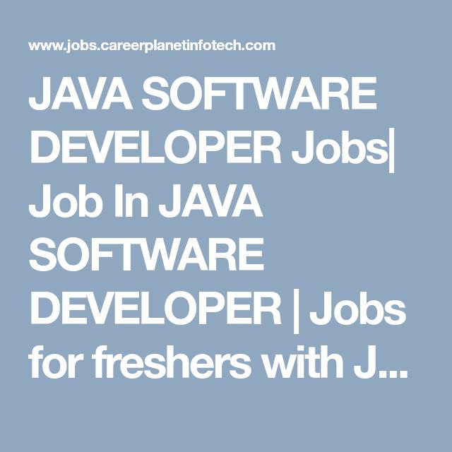 Java Software Developer Jobs Job In Java Software Developer