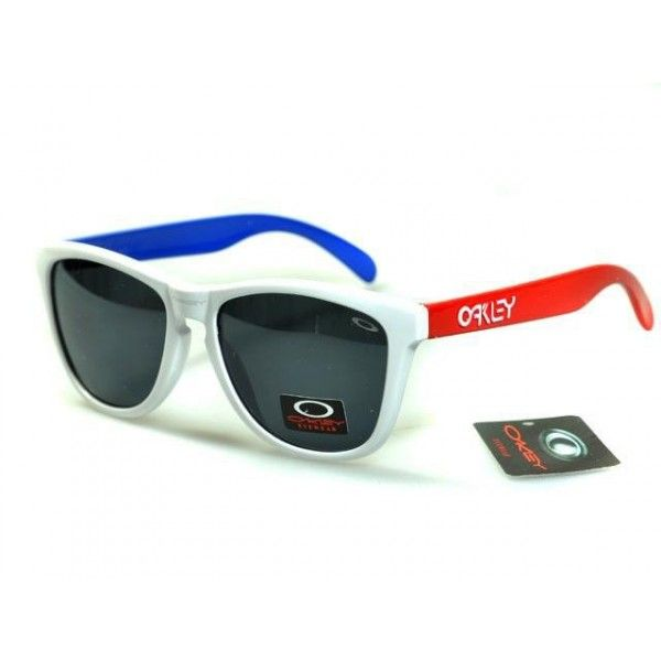 discount oakley lenses  $12.99 Oakley Frogskins Sunglasses light blue lens clear orange ...