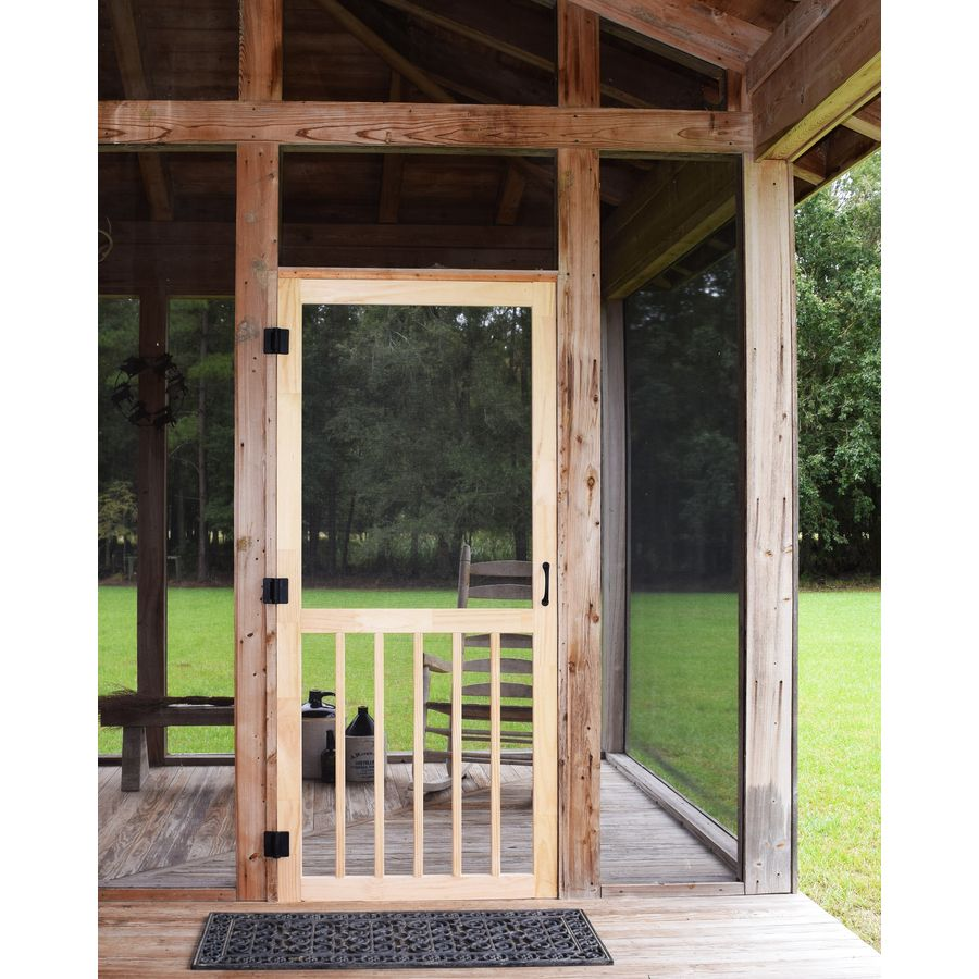 Screen Tight 5 Bar Finger Joint Wood Frame Hinged 5 Bar Screen Door Common 32 In X 80 In Actual 32 In X 80 In Lowes Com Sliding Screen Doors Screen Porch Systems Screened Porch Doors