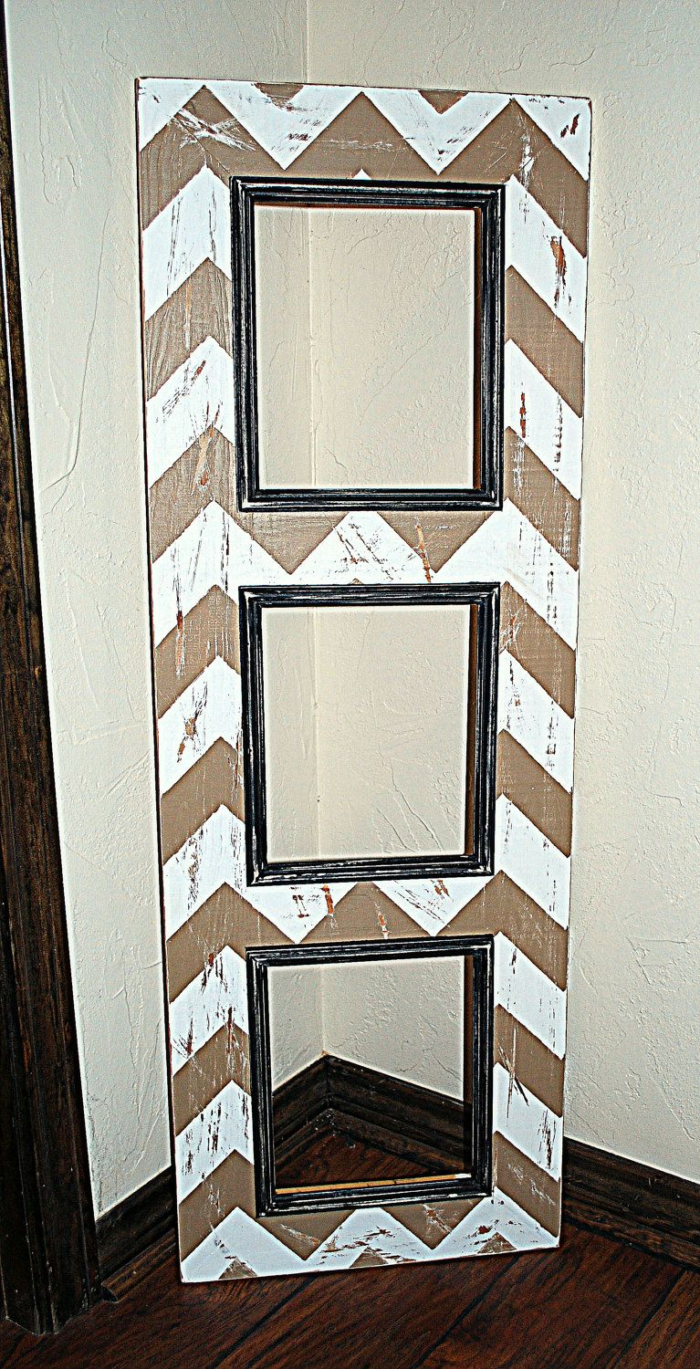 SAMPLE SALE, Multiple Picture Opening Frame, 3 - 8x10\'s, Chevron ...