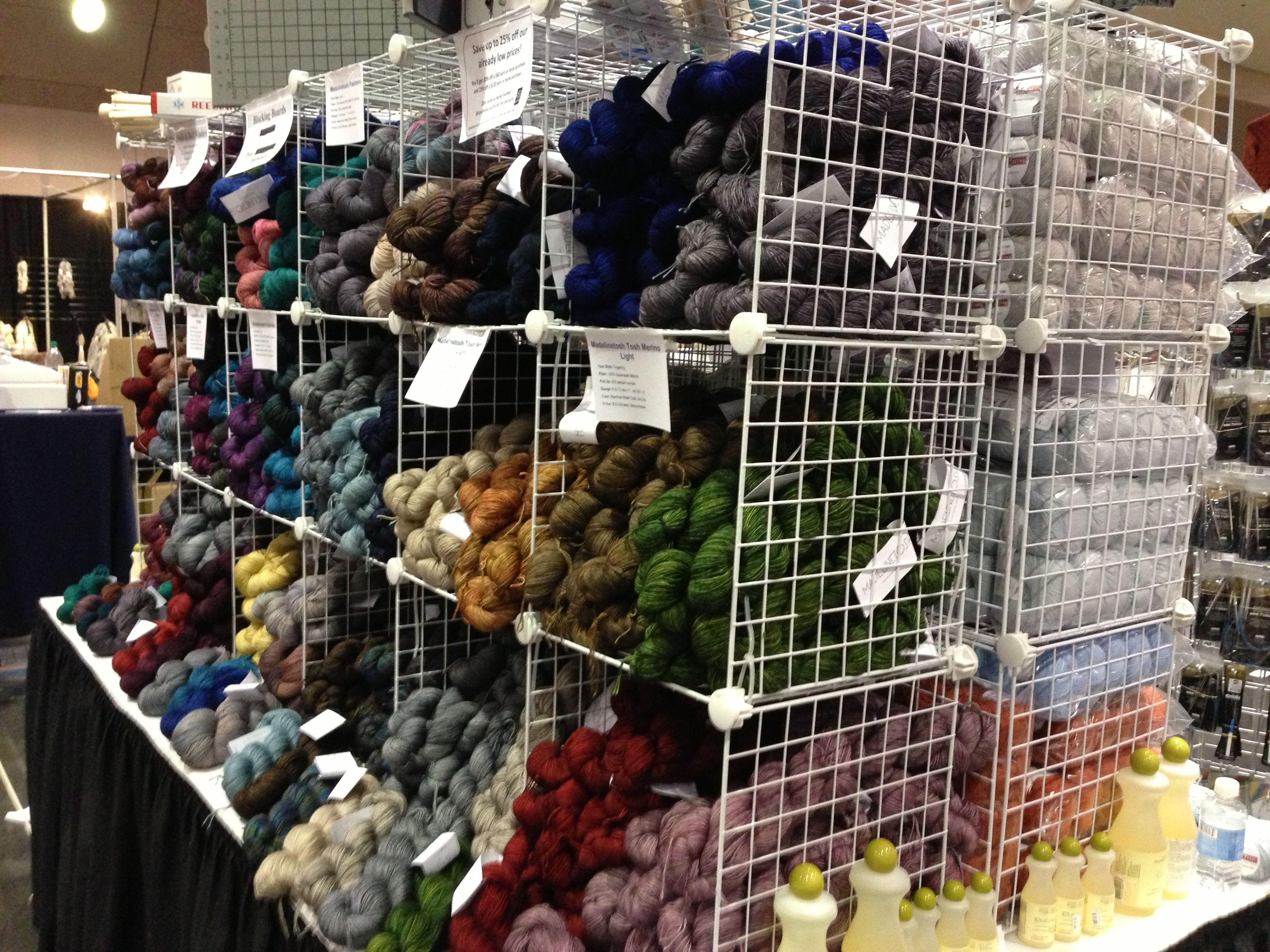 Do you need to pick up any Madelinetosh yarn at STITCHES West to bring home for your stash? We've got a wall of it in our booth in the marketplace.