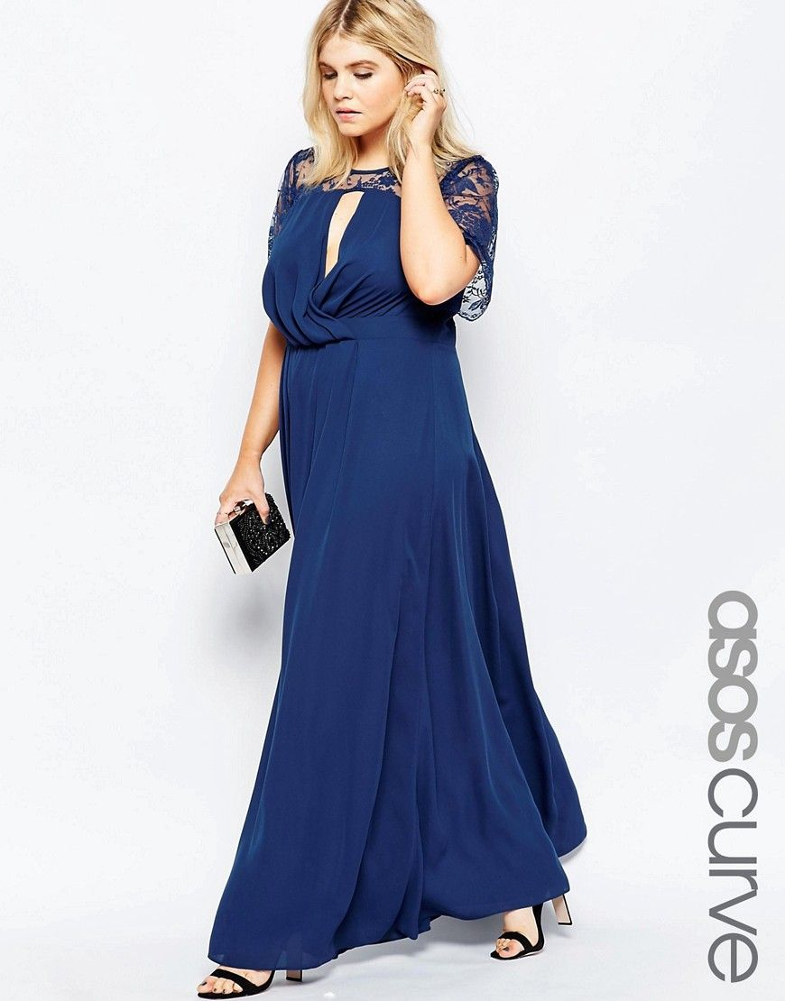 Maxi dresses to wear to a wedding  Image  of ASOS CURVE Kate Lace Maxi Dress with Flutter Sleeves