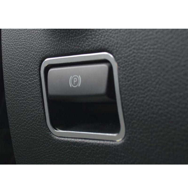 Aluminium Alloy Inner Electronic Parking Brake Button Frame Trims For Benz A Class W176 B Class W246 Mercedes Benz Vito Interior Accessories Decorative Cover
