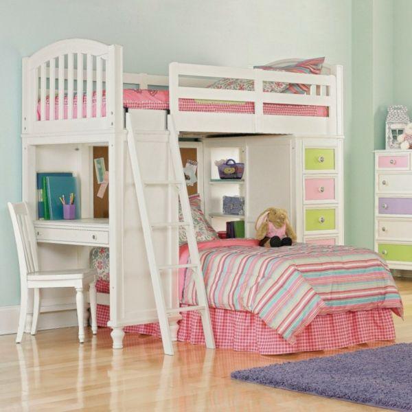 kinderzimmer hochbett treppe schreibtisch - Coolste Etagenbetten Mit Schreibtisch