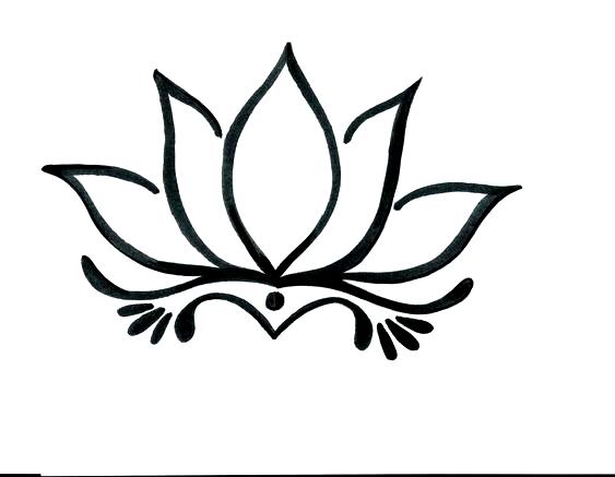 Flower Drawing Lotus Easy