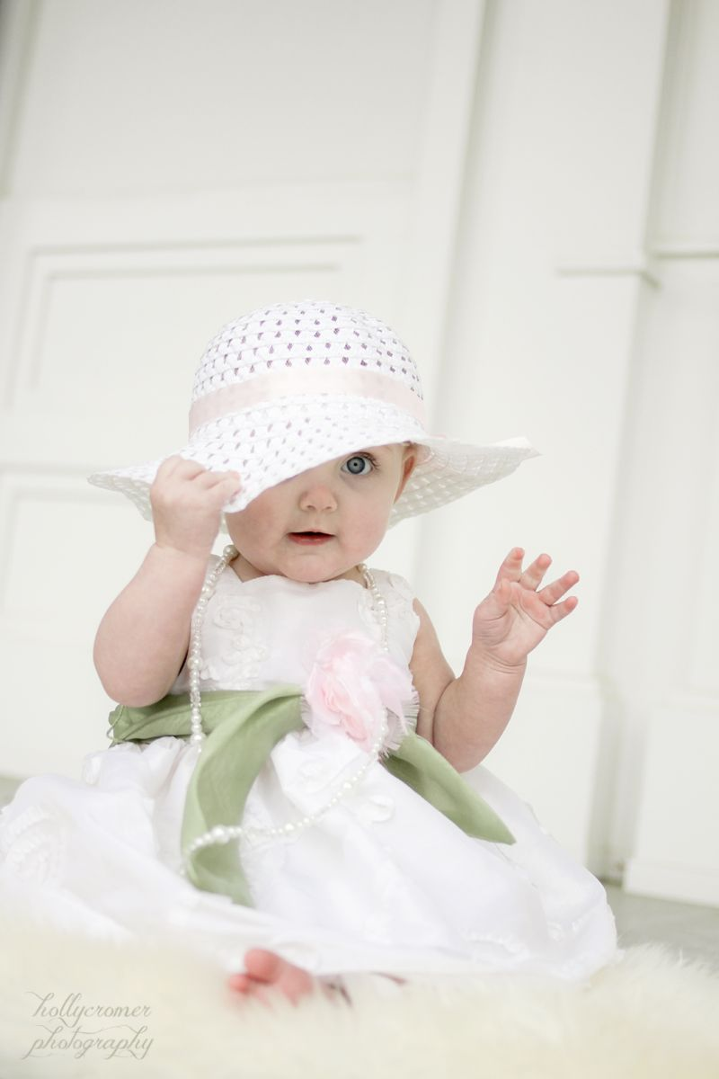 925141341d6a 6 month old baby girl in easter dress