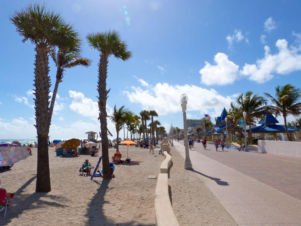 Hollywood Beach Boardwalk Florida