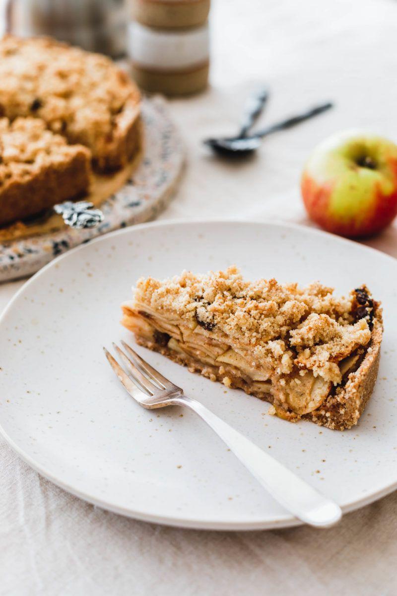 Einfacher Veganer Apfelkuchen Mit Streuseln Rezept Apfelkuchen Streusel Veganer Apfelkuchen Veganer Kuchen Einfach