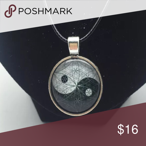 Silver Ying Yang Clasp Cord Necklace Brand New #N054 Jewelry Necklaces