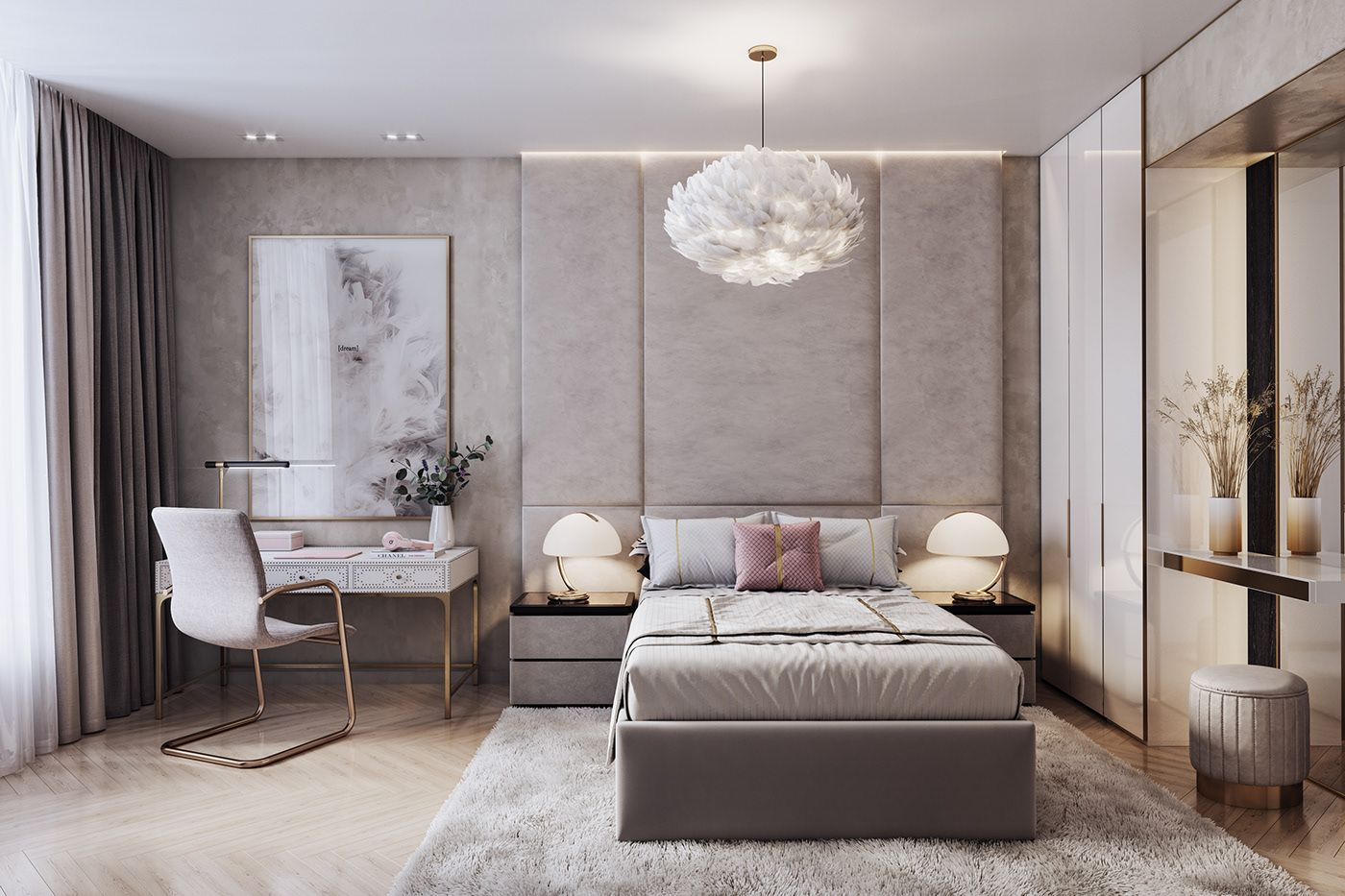 2 Bedroom Apartment Interior Design On Behance Apartment