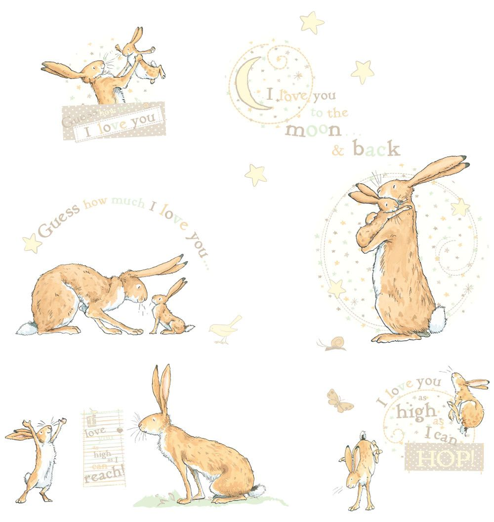 Guess How Much I Love You (bunny Rabbits) Wall Stickers
