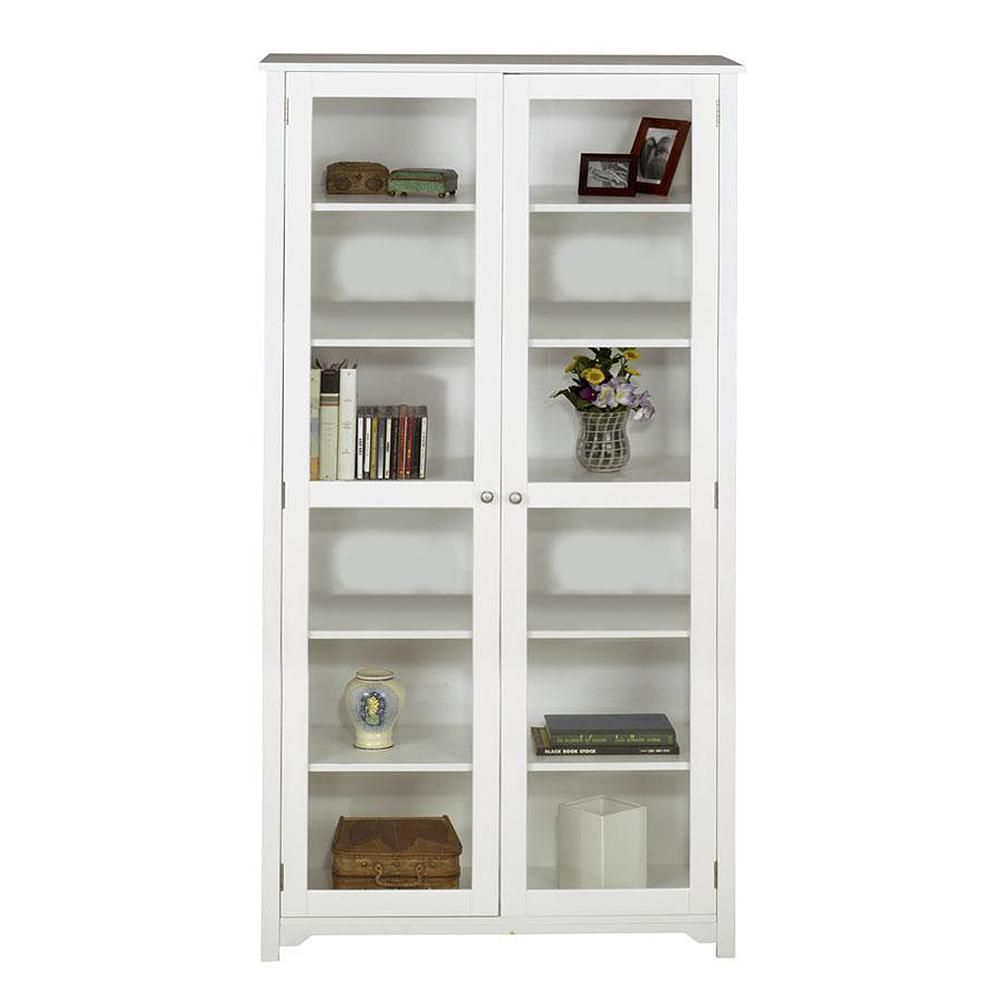 Oxford White Glass Door Bookcase Bookcase With Glass Doors White Bookcase Bookcase White bookcase with glass doors