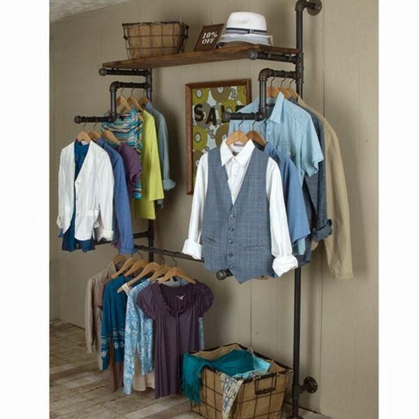 Cuelga tu ropa al estilo industrial.....   Muebles y útiles ...