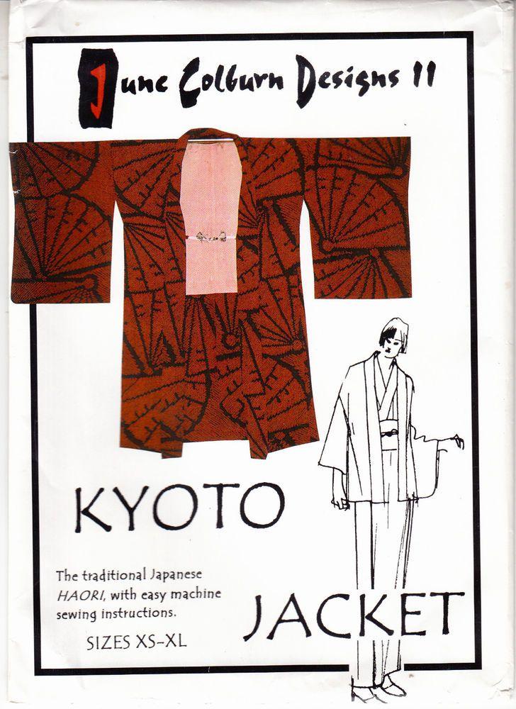 Kyoto Jacket June Colburn Designs Japanese Haori Jacket Sewing ...