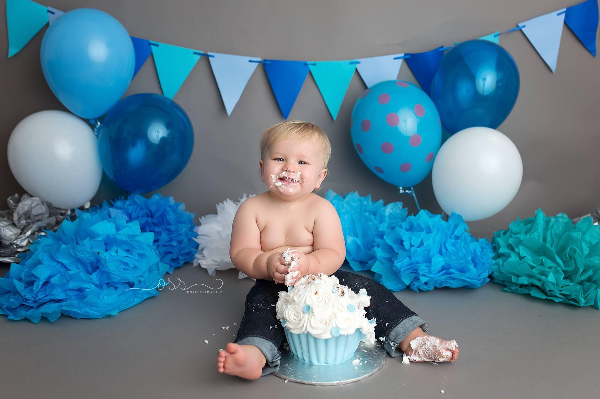 Grey 7 Blue Cake Smash For The Boys