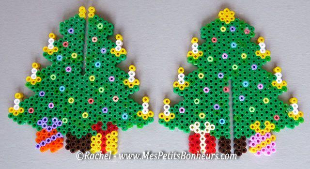 3d Christmas Tree With Hama Or Perler Beads Diy Christmas Perler Beads Hama Beads Christmas Perler Bead Patterns