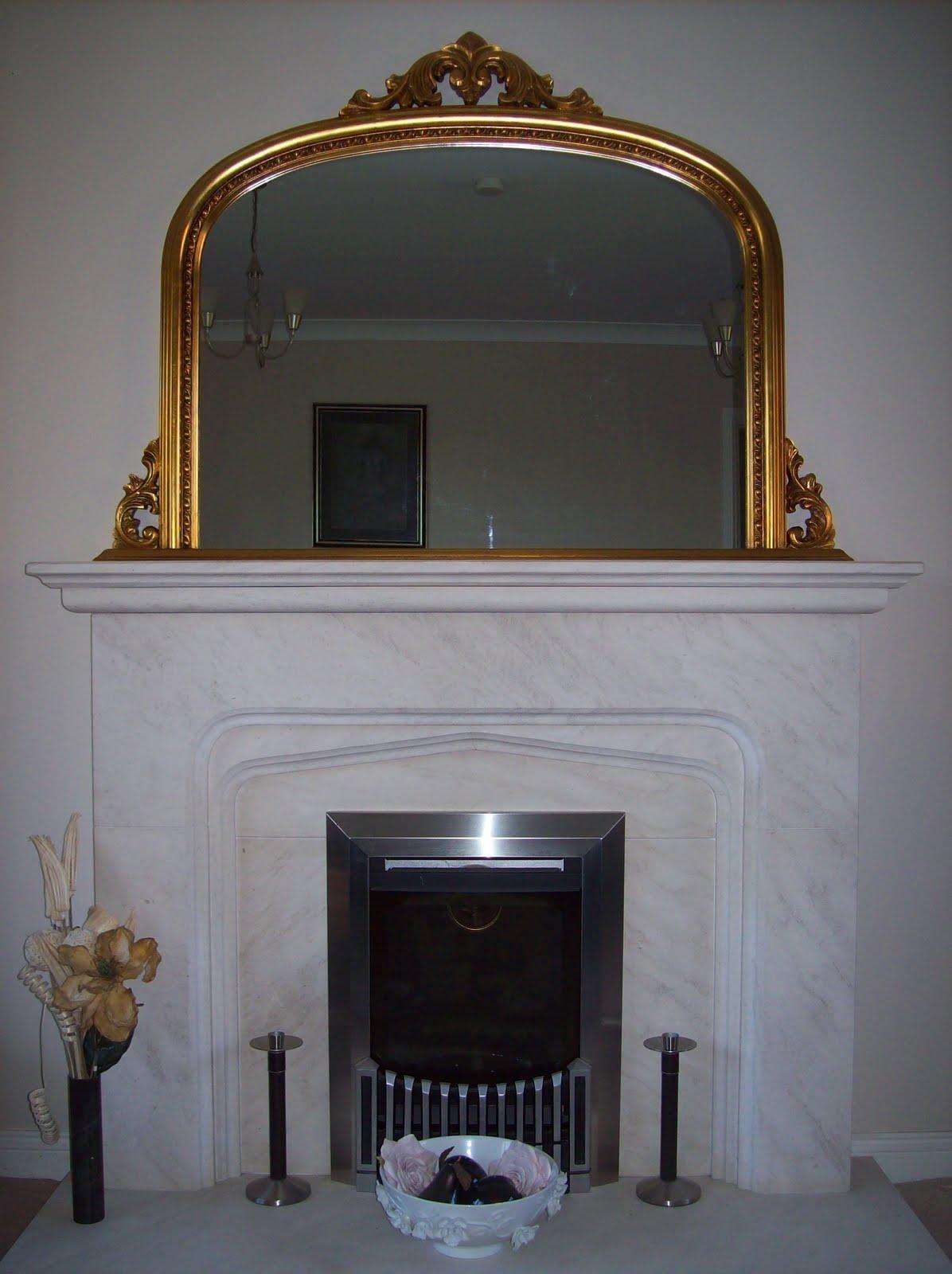 Mirrors Brilliant Vintage Overmantle Mirror