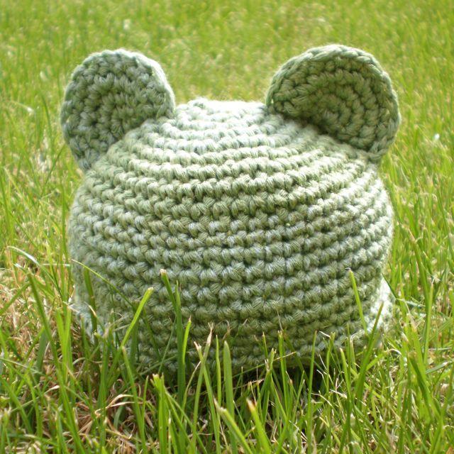 Squishy Chocolate Little Bear Preemie Baby Hat Free Crochet